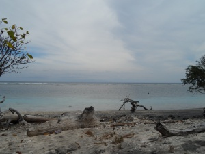 Looking out to Sunset Reef on the island's south