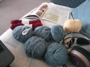 Jo Sharp Tweed, Knitsch, and Vintage Purls, oh my!