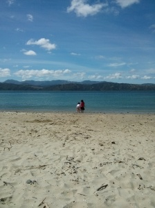 I actually managed to get a wee bit sunburnt at the beach. Had great fun though.