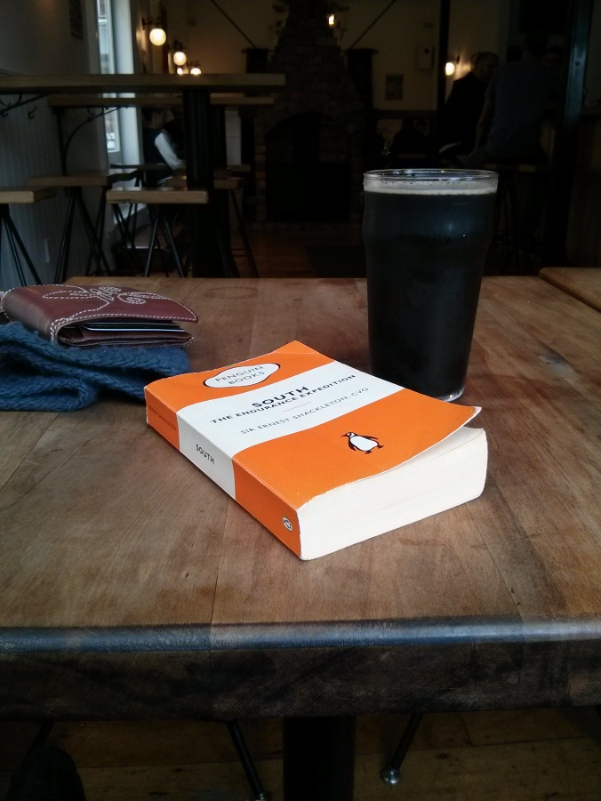 Milk stout and a good book at my local. Perfect.